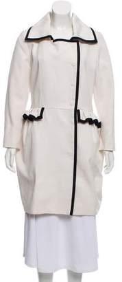 Saint Laurent Double-Breasted Knee-Length Coat