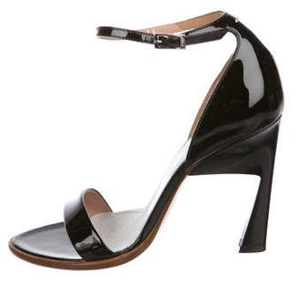 Maison Margiela Patent Leather Ankle Strap Sandals