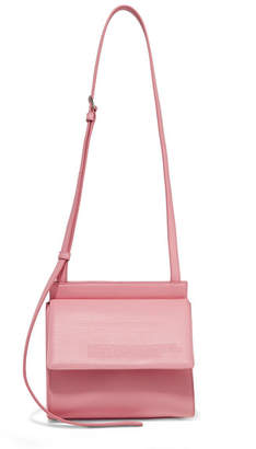 Calvin Klein Embossed Leather Shoulder Bag - Pastel pink