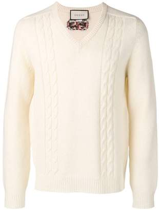 Gucci cable-knit sweater