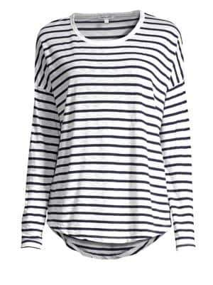 Splendid Zander Striped Slub Crewneck Top