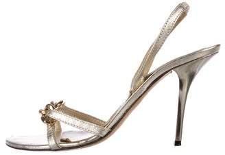 Michael Kors Chain-Link Slingback Sandals