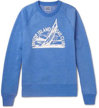 J.Crew Printed Melange Fleece-Back Cotton-Blend Jersey Sweatshirt - Light blue