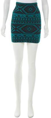 Torn By Ronny Kobo Celine Jacquard Mini Skirt