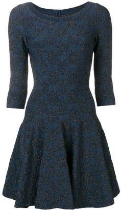 Alaia Pre-Owned glitter detail flared dress