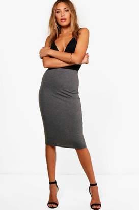boohoo Mindy Basic Jersey Midi Skirt