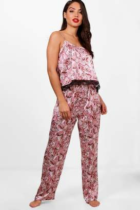 boohoo Isabelle Paisley Print Cami & Trouser Set
