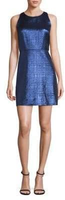 Milly Metallic Jacquard Sheath Dress