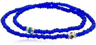 Luis Morais Sapphire Barrel Double Wrap Bracelet