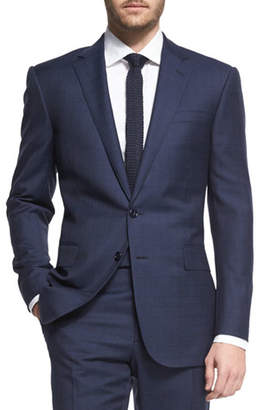 Ralph Lauren Prince of Wales Two-Piece Plaid Suit, Navy $2,495 thestylecure.com