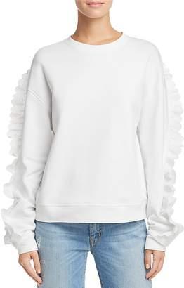 McQ Lace-Trimmed Sweatshirt