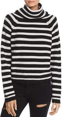 Aqua Oversized Striped Turtleneck Sweater - 100% Exclusive