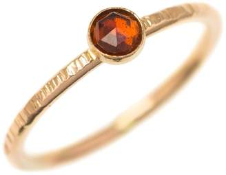 FEATHER+STONE - Gold Garnet Ring
