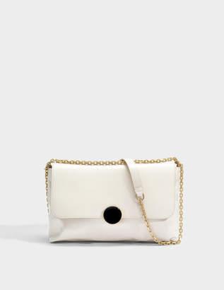 Vanessa Bruno Moon Shoulder Bag in Ivory Cowhide