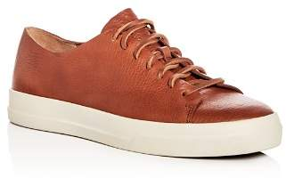 Vince Men's Luggage Leather Lace Up Sneakers