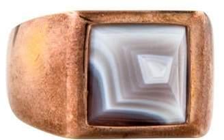 Eddie Borgo Agate Pyramid Cocktail Ring
