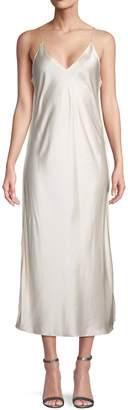 Helmut Lang Raw Detail Satin Slip Dress