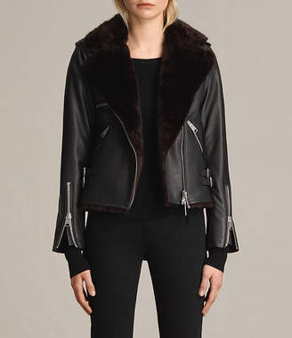 AllSaints Higgens Lux Leather Biker Jacket