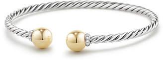 David Yurman Solari Bead Open Bangle w/ Diamonds