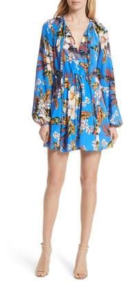 Diane von Furstenberg Tie Waist Floral Silk Dress