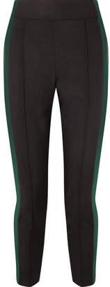 Haider Ackermann Grosgrain-trimmed Wool-blend Pants - Black