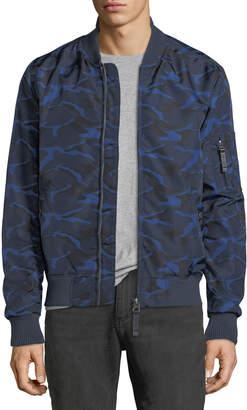 Slate & Stone Men's Wind-Resistant Bomber Jacket, Camouflage