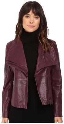 BB Dakota Newell Washer Leather Jacket $308 thestylecure.com