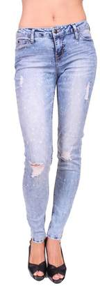 Celebrity Pink CelebrityPink Women Distressed Skinny Jeans with Bleach