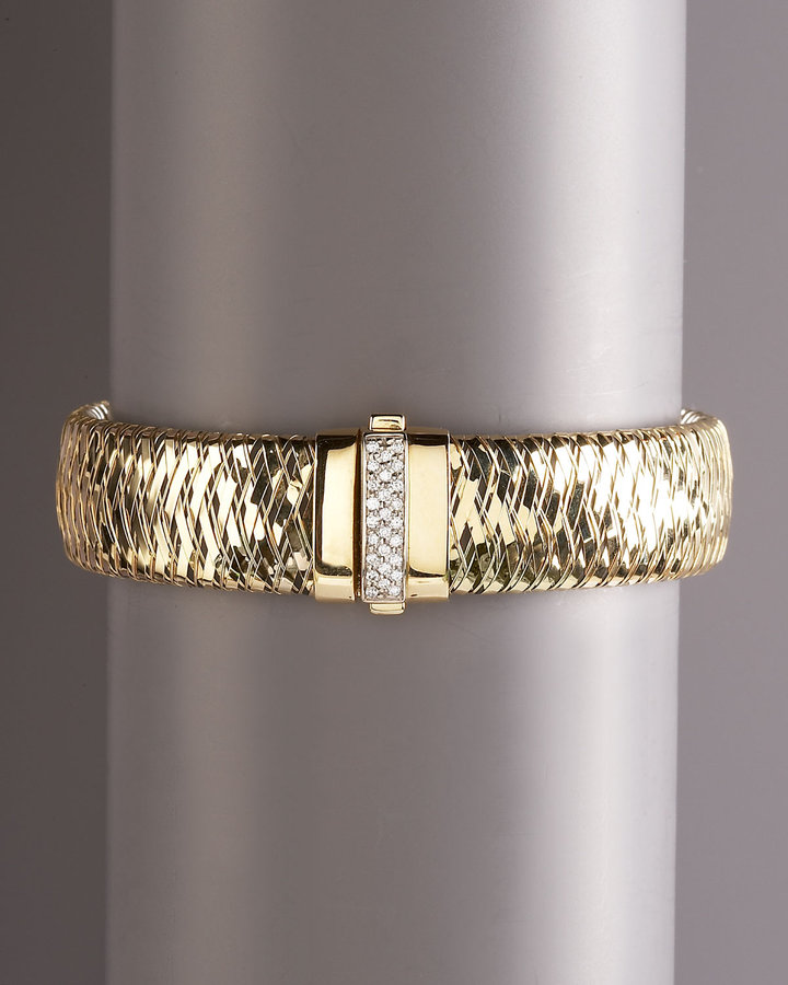 Roberto Coin Primavera Yellow Gold Diamond Bracelet