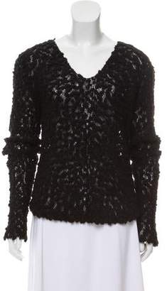 Fendi Knit V-Neck Sweater