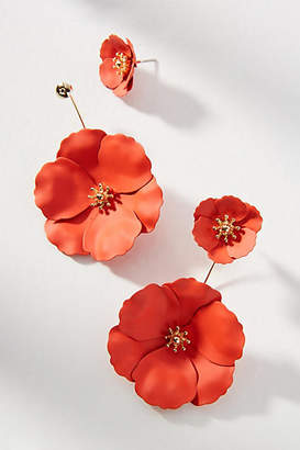 Zenzii Captiva Floral Front-Back Earrings