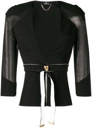 Elisabetta Franchi belted fitted jacket