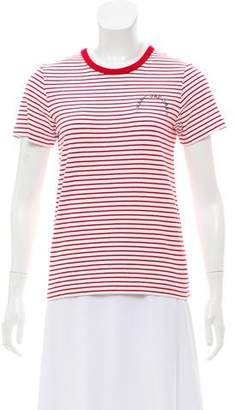 Marc Jacobs Striped Embroidered Top w/ Tags