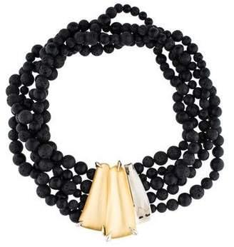 Alexis Bittar Lava Stone & Lucite Lakana Multistrand Necklace