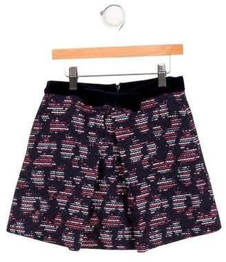 Oscar de la Renta Girls' Tweed Pleated Skirt
