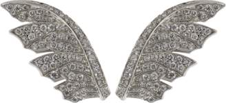 Stephen Webster Magnipheasant Pave Diamond Feather Earrings