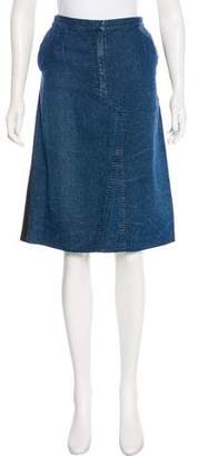 Alessandro Dell'Acqua Knee-Length Chambray Skirt