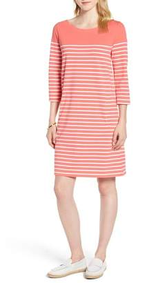 1901 Stripe Cotton Knit Shift Dress (Regular & Petite)