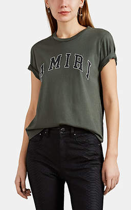 Amiri Women's Logo-Print Cotton T-Shirt - Olive