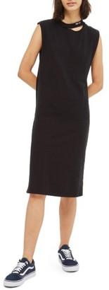 Women's Topshop Ladder Back Washed Jersey Dress $45 thestylecure.com