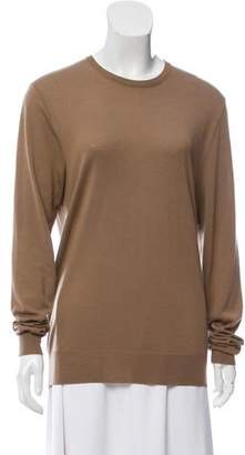 Ralph Lauren Black Label Cashmere Rib Knit Trimmed Sweater