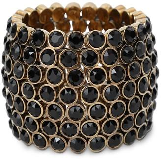 Saint Laurent Embellished Brass Mesh Bracelet