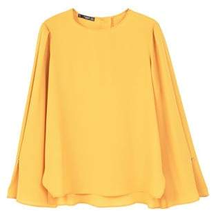 MANGO Flared sleeve blouse