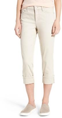 Petite Women's Nydj Dayla Colored Wide Cuff Capri Jeans $98 thestylecure.com