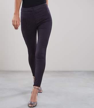 Reiss Lio Leopard Pattern Jacquard Skinny Trousers