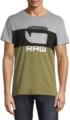 G Star Raw Colourblock Short-Sleeve Cotton Tee