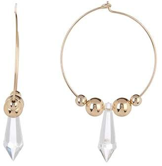Ettika Sphere & Point Thin 51mm Hoop Earrings