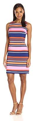 Ronni Nicole Women's Slevless Stripe Sheath Dress
