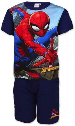 Marvel Spiderman Boys Official Short Pajamas Beach Set Age