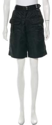 Dolce & Gabbana High-Rise Knee-Length Shorts Black High-Rise Knee-Length Shorts